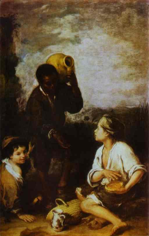 Three Boys 1668-1670 | Bartolome Esteban Murillo | Oil Painting