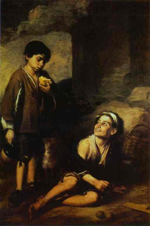 Two Peasant Boys 1668-1670 | Bartolome Esteban Murillo | Oil Painting