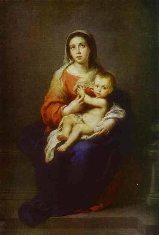 Virgin And Child 1670 | Bartolome Esteban Murillo | Oil Painting