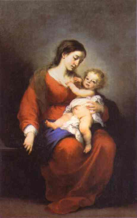 Virgin And Child 1675-80 | Bartolome Esteban Murillo | Oil Painting