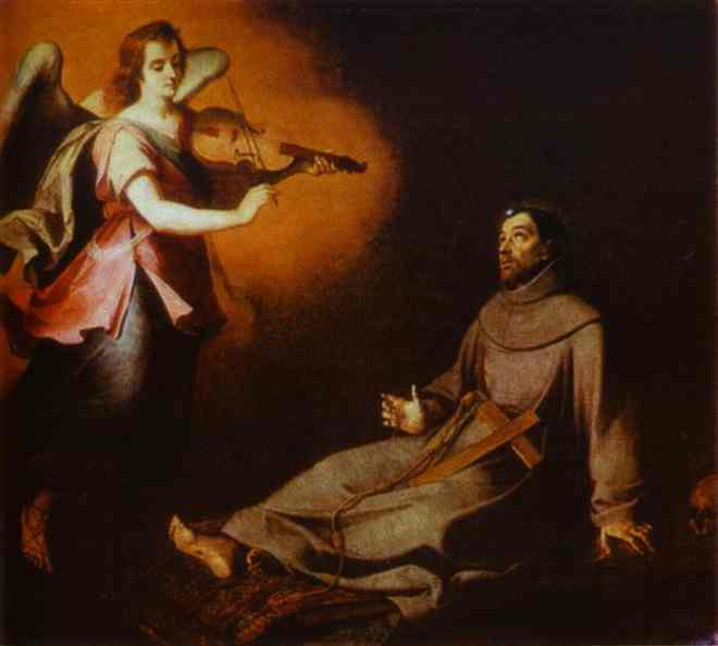 Vision To St Francis 1645-1646 | Bartolome Esteban Murillo | Oil Painting