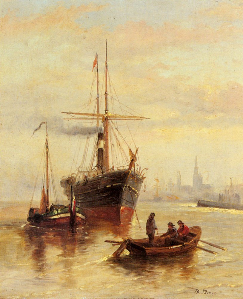 A Harbor Scene With A View Of Venice | Bartolomeo Bezzi | Oil Painting