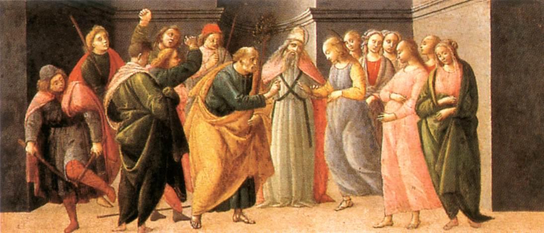Predella Marriage Of Mary 1488 | Bartolomeo Di Giovanni | Oil Painting