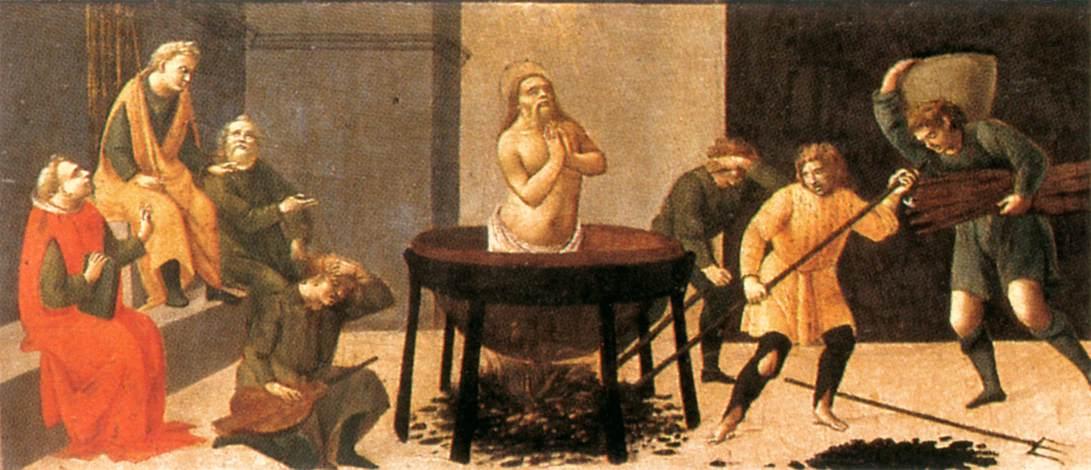 Predella Martyrdom Of St John 1488 | Bartolomeo Di Giovanni | Oil Painting