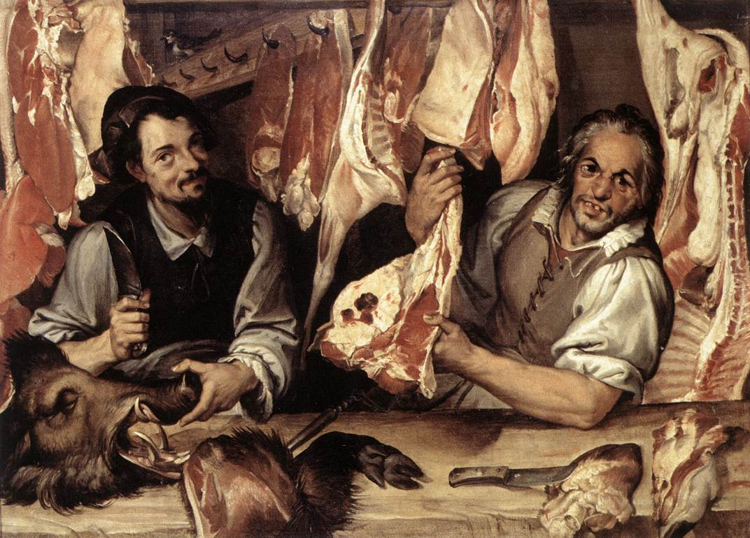 The Butchers Shop 1580s | Bartolomeo Passerotti | Oil Painting