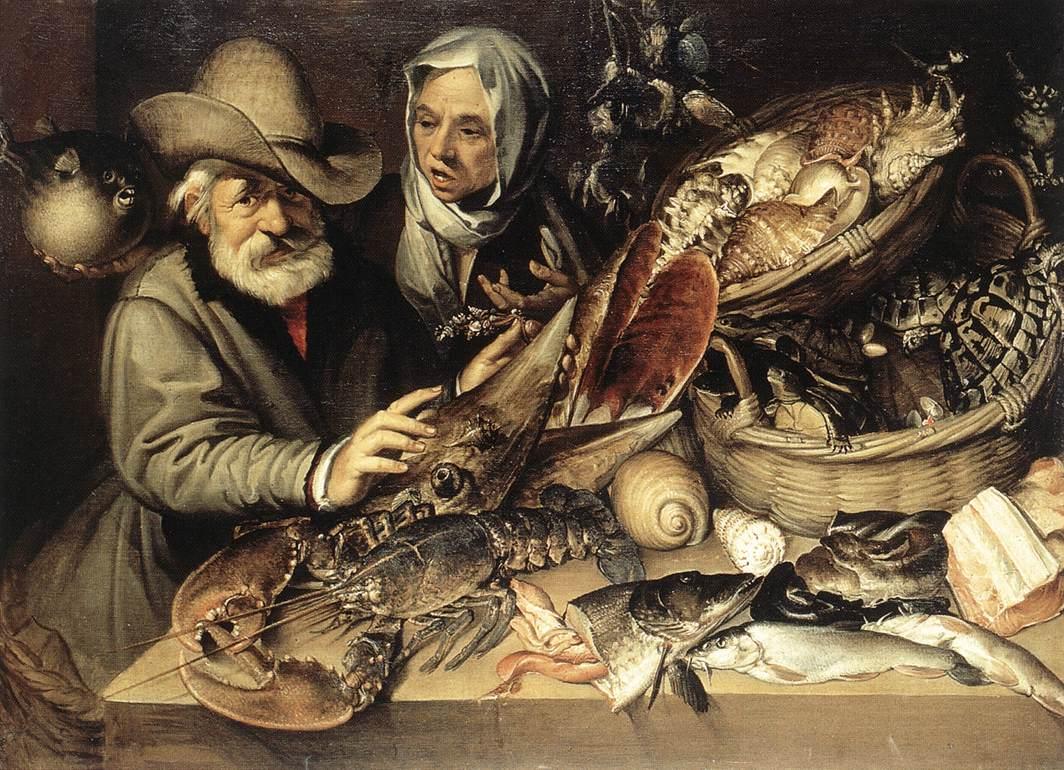 The Fishmongers Shop | Bartolomeo Passerotti | Oil Painting