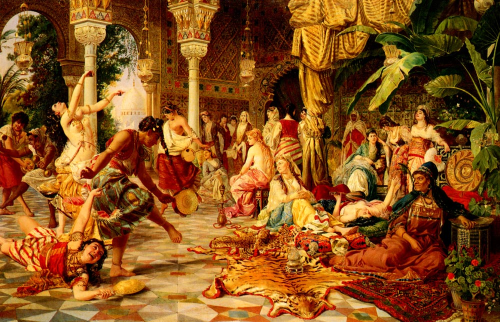 Entertainments In The Harem | Belisario Gioja | Oil Painting