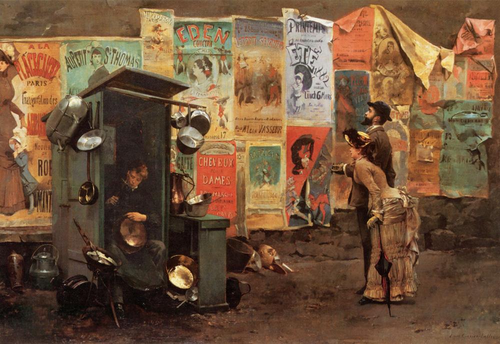 Mending The Pots   Belleuse Louis Robert Carrier   Oil Painting
