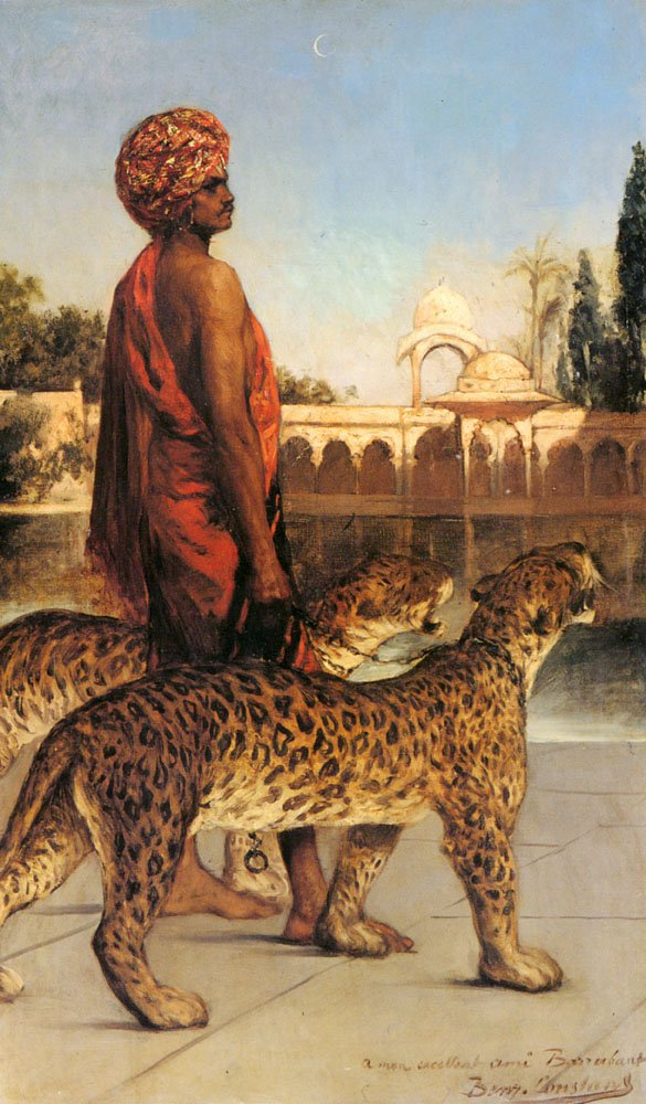 The Palace Guard With Two Leopards | Benjamin Constant | Oil Painting