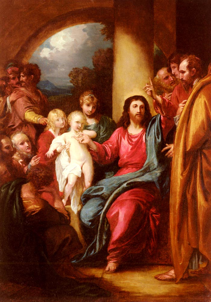 Christ Showing a Little Child as the Emblem of Heaven | Benjamin West | Oil Painting