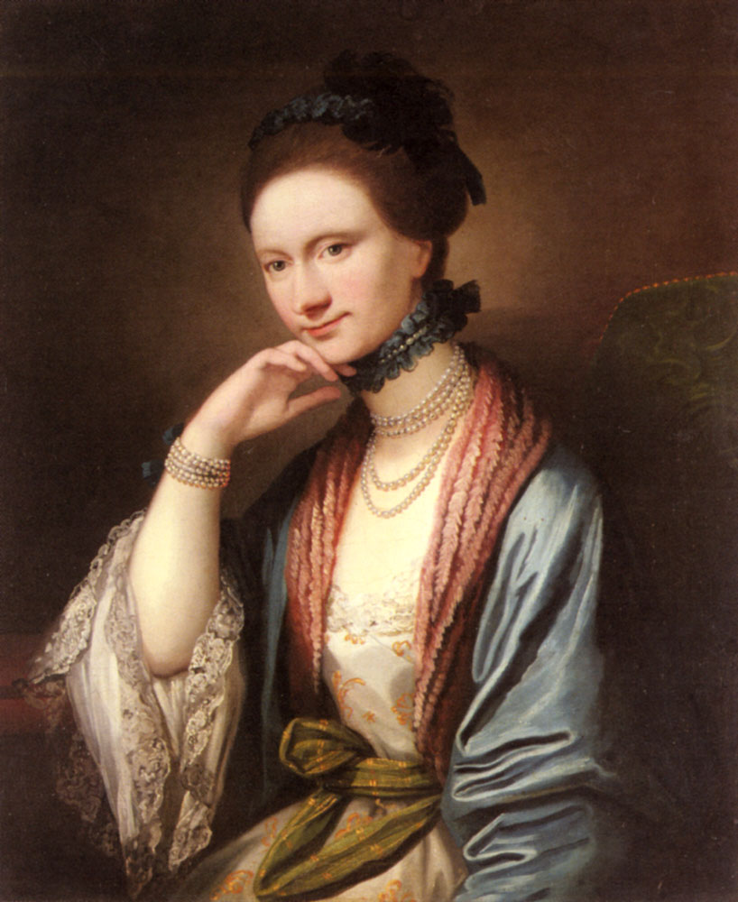 Portrait of Ann Barbara Hill Medlycott | Benjamin West | Oil Painting