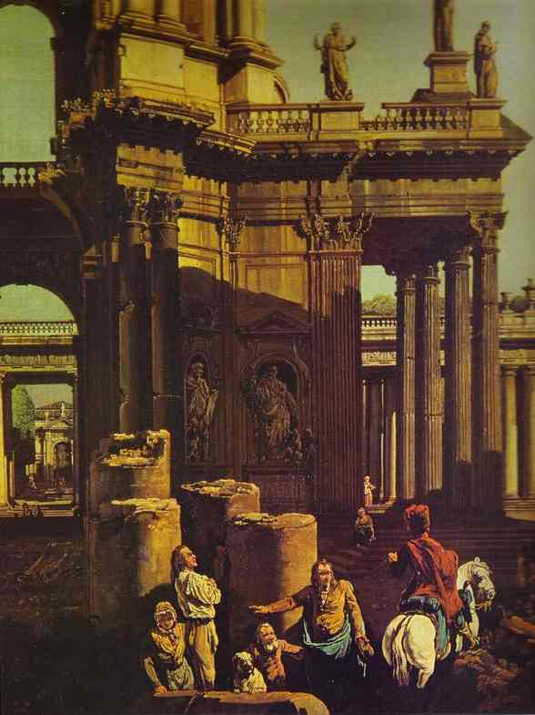 Ruins Of A Temple Detail | Bernardo Bellotto | Oil Painting
