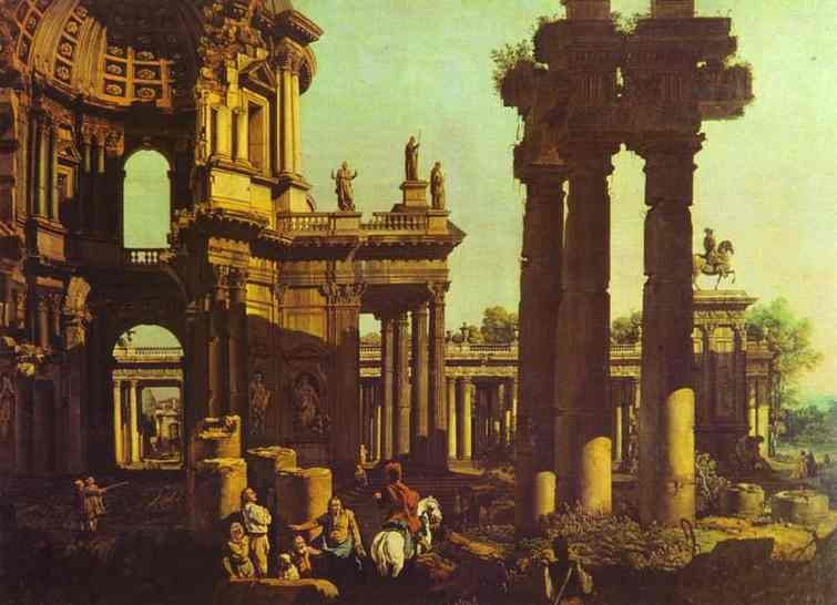 Ruins Of A Temple | Bernardo Bellotto | Oil Painting
