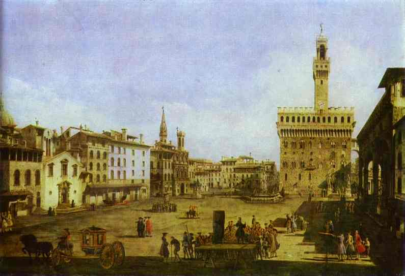 Signoria Square In Florence Early 1740s | Bernardo Bellotto | Oil Painting