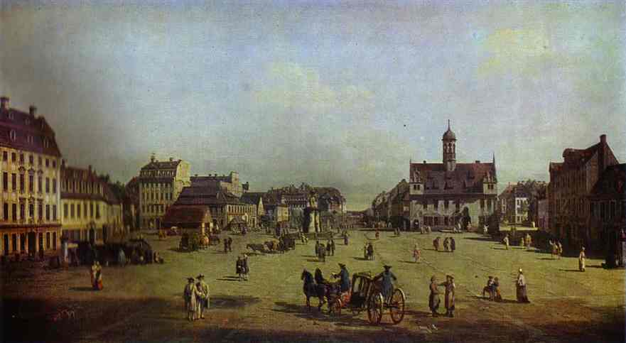 The New Market Square In Dresden 1750 | Bernardo Bellotto | Oil Painting
