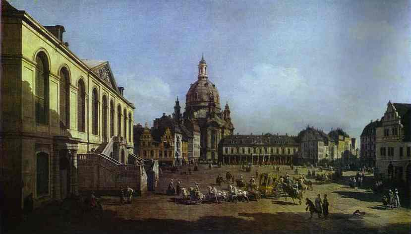 The New Market Square In Dresden Seen From The Judenhof 1749 | Bernardo Bellotto | Oil Painting
