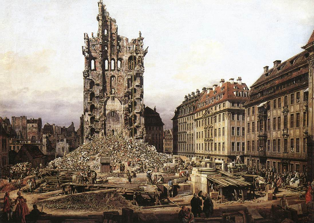 The Ruins Of The Old Kreuzkirche In Dresden 1765 | Bernardo Bellotto | Oil Painting