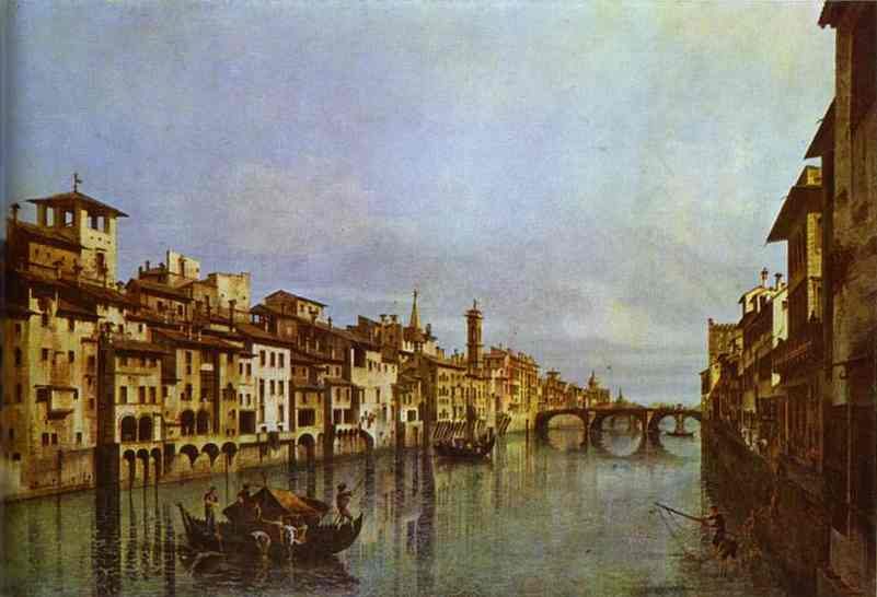 Arno In Florence Early 1740s | Bernardo Bellotto | Oil Painting