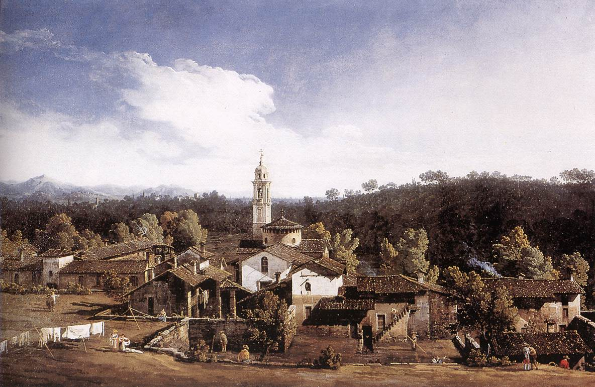 View Of Gazzada Near Varese 1744 | Bernardo Bellotto | Oil Painting