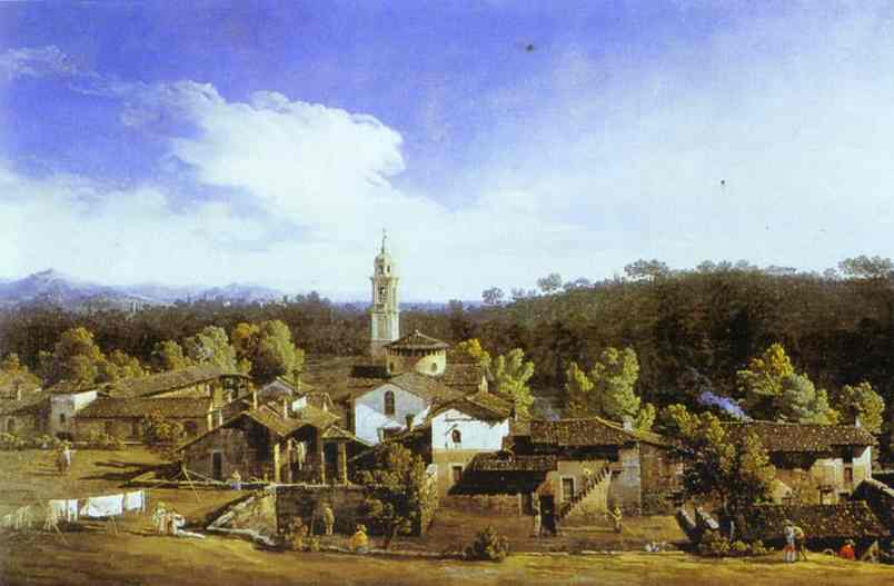 View Of The Gazzada 1744 | Bernardo Bellotto | Oil Painting
