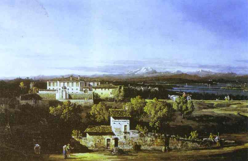 View With The Villa Melzi Deril 1744 | Bernardo Bellotto | Oil Painting