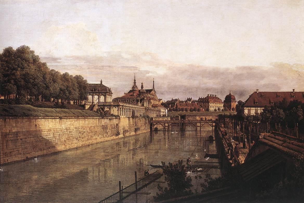 Zwinger Waterway 1750 | Bernardo Bellotto | Oil Painting