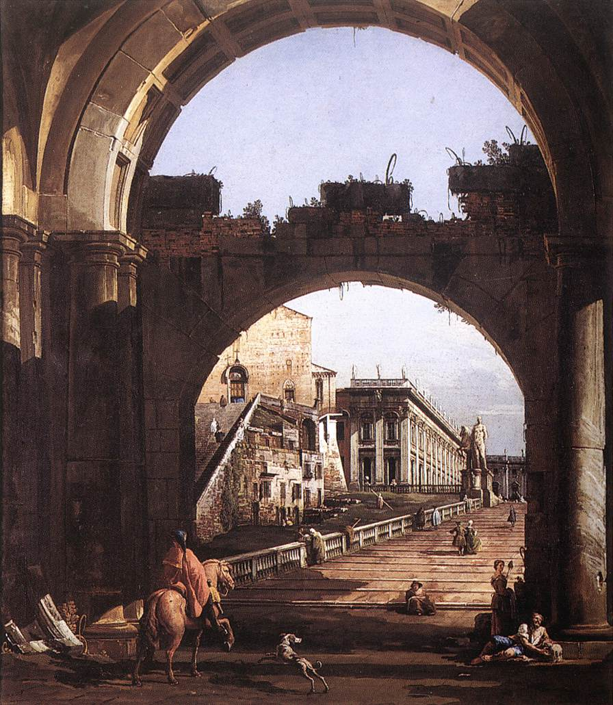 Capriccio Of The Capital 1743-44 | Bernardo Bellotto | Oil Painting