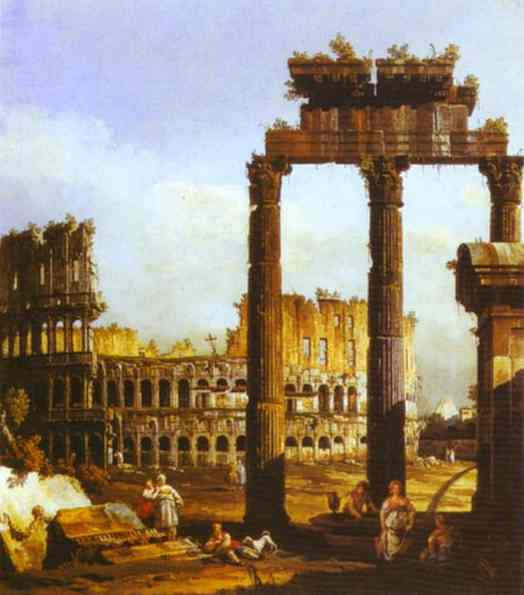 Capriccio With The Colosseum 1743-44 | Bernardo Bellotto | Oil Painting