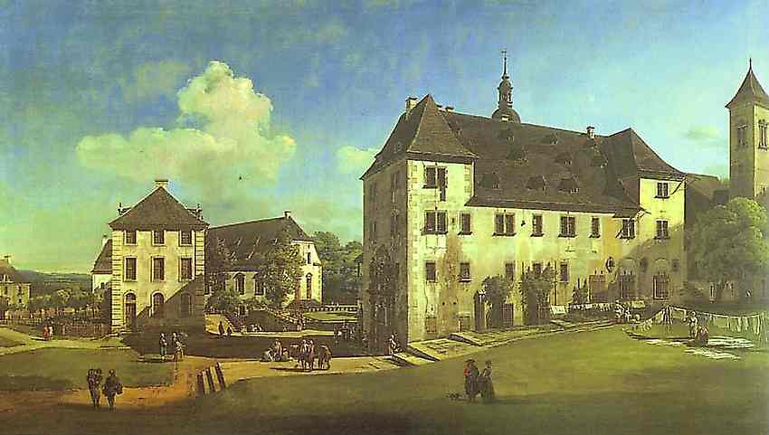 Courtyard Of The Castle At Koningstein From The South 1756-58 | Bernardo Bellotto | Oil Painting