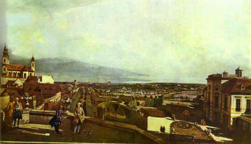 Kaunitz Palace And Park In Vienne 1758-60 | Bernardo Bellotto | Oil Painting