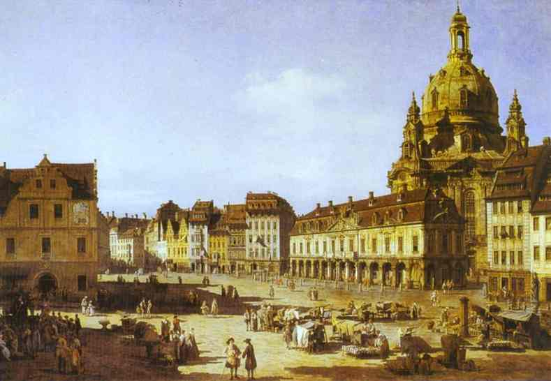 New Market Square In Dresden 1750 | Bernardo Bellotto | Oil Painting