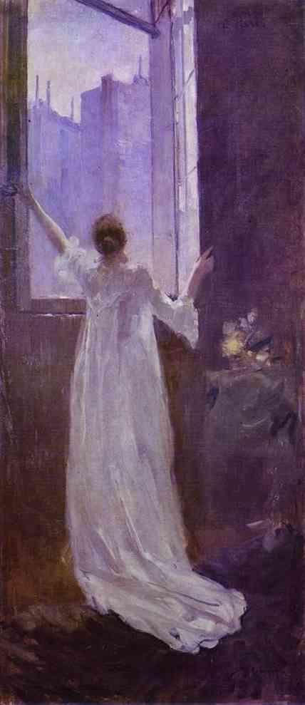 At The Window 1893   Bernardo Strozzi   Oil Painting