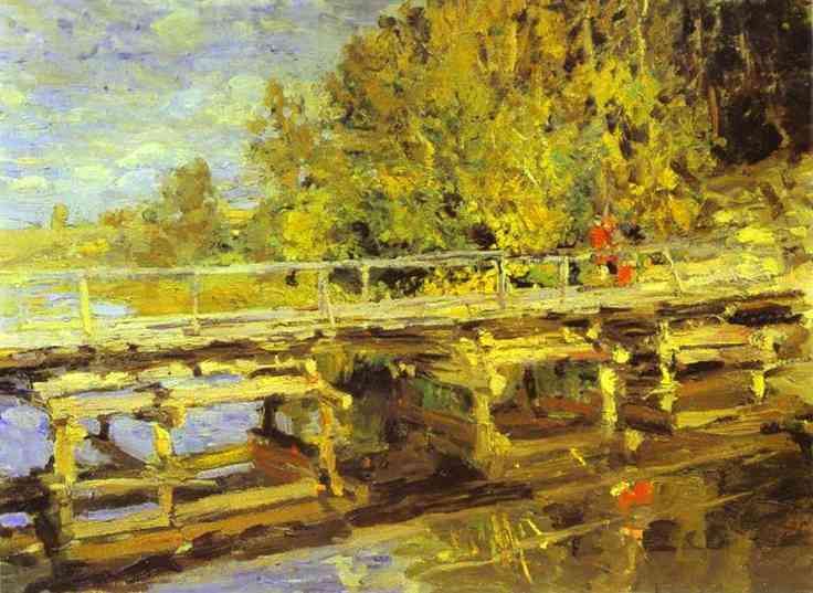 Autumn On Bridge | Bernardo Strozzi | Oil Painting