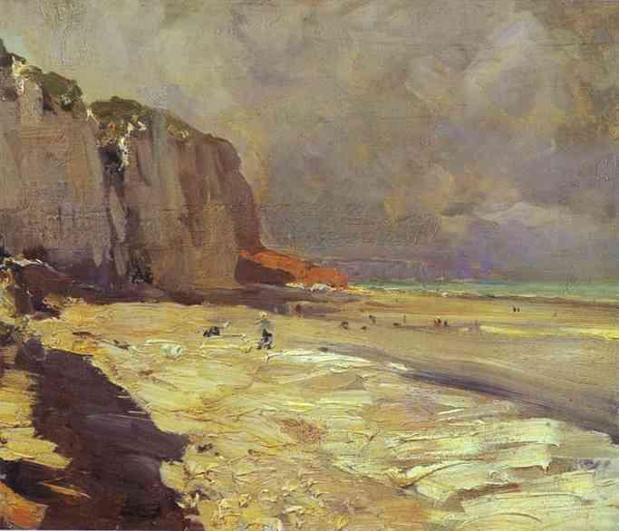 Beach At Dieppe Study 1890s | Bernardo Strozzi | Oil Painting