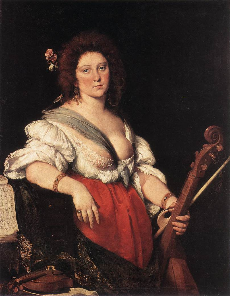Gamba Player 1635 | Bernardo Strozzi | Oil Painting