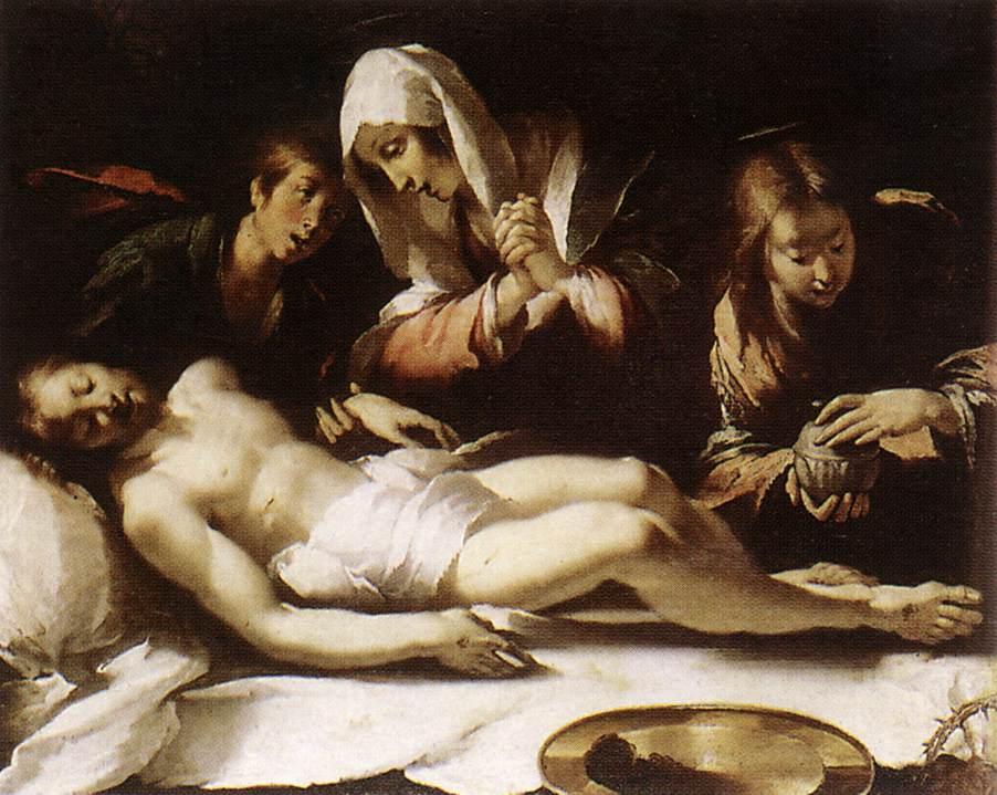 Lamentation Over The Dead Christ 1615-17 | Bernardo Strozzi | Oil Painting