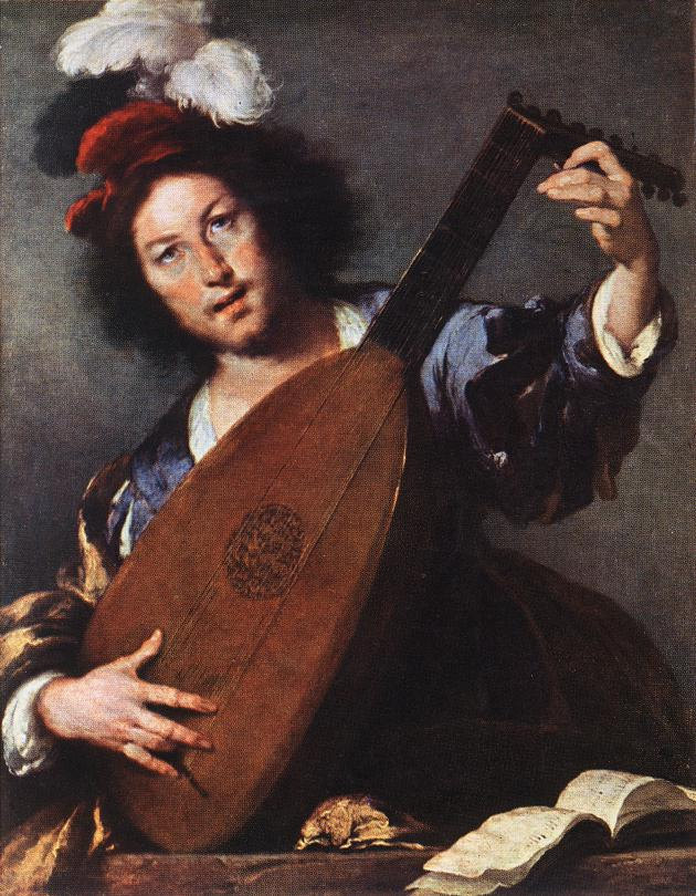 Lute Player 1630-35 | Bernardo Strozzi | Oil Painting
