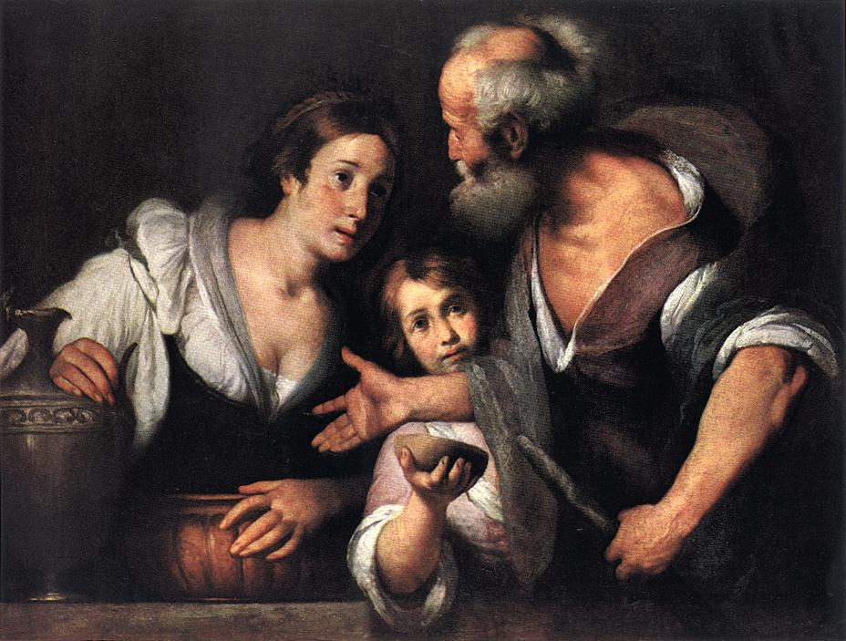 Prophet Elijah And The Widow Of Sarepta 1630s | Bernardo Strozzi | Oil Painting