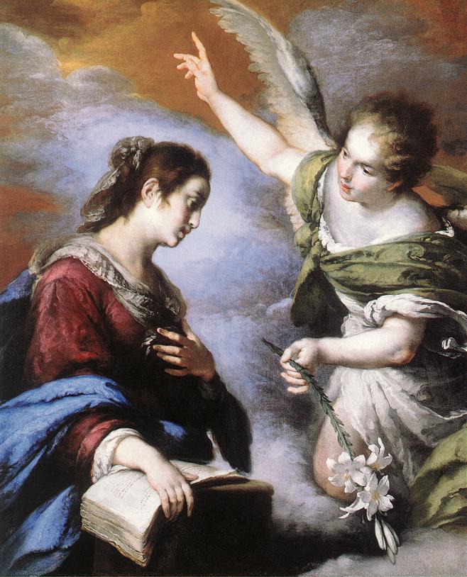 The Annunciation 1643-44 | Bernardo Strozzi | Oil Painting