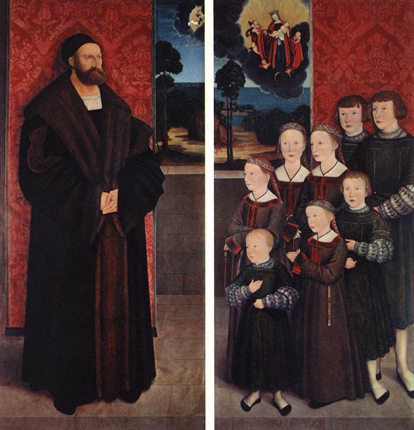 Portrait Of Conrad Rehlinger And His Children 1517 | Bernhard Strigel | Oil Painting
