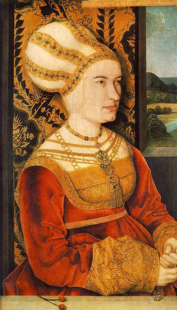 Portrait Of Sybilla Von Freyberg (Born Gossenbrot)   Bernhard Strigel   Oil Painting