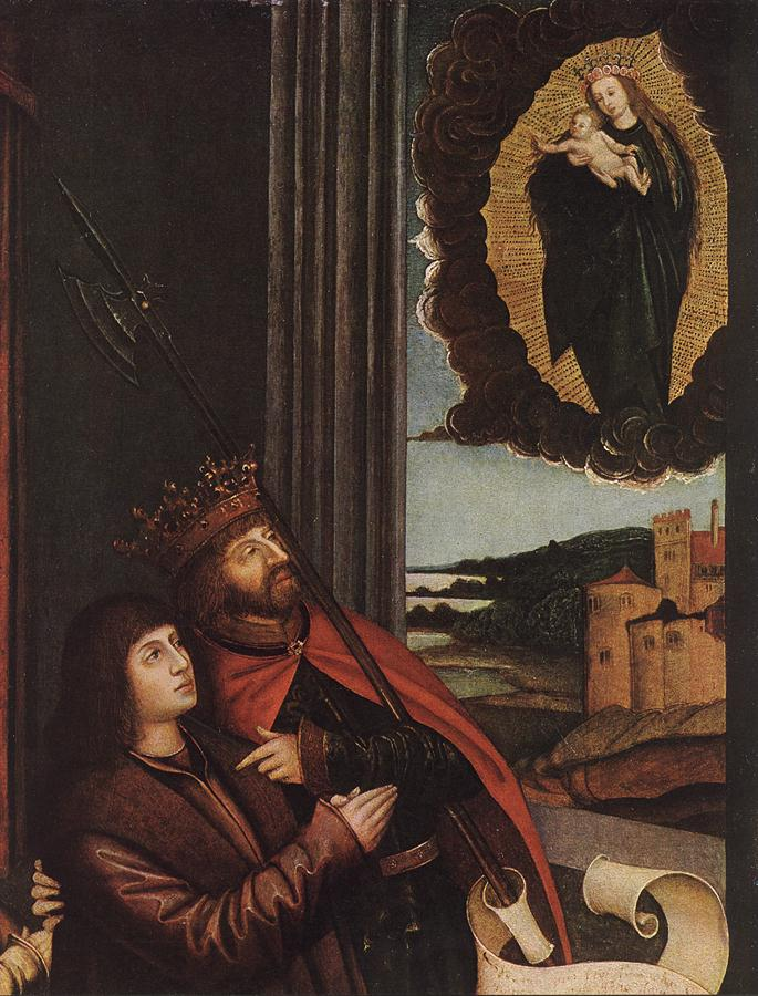 St Ladislas Presents Wladislav II And His Sons To The Virgin Detail 1511-12 | Bernhard Strigel | Oil Painting