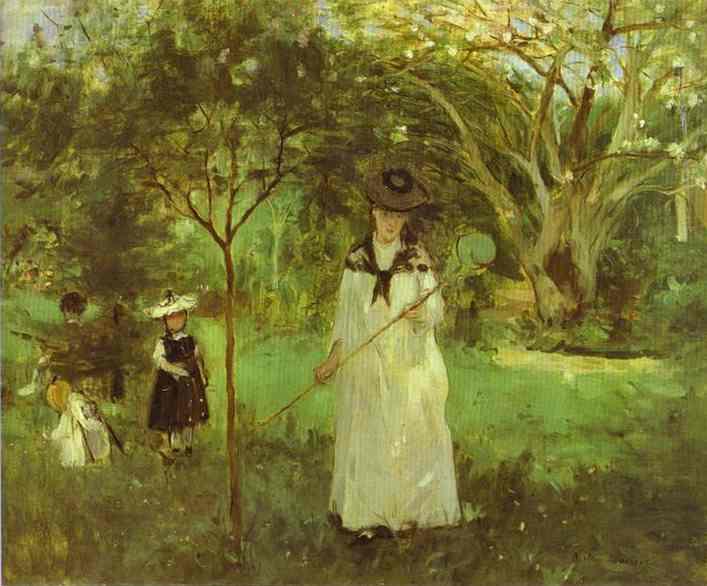 Chasing Butterflies 1874 | Berthe Morisot | Oil Painting