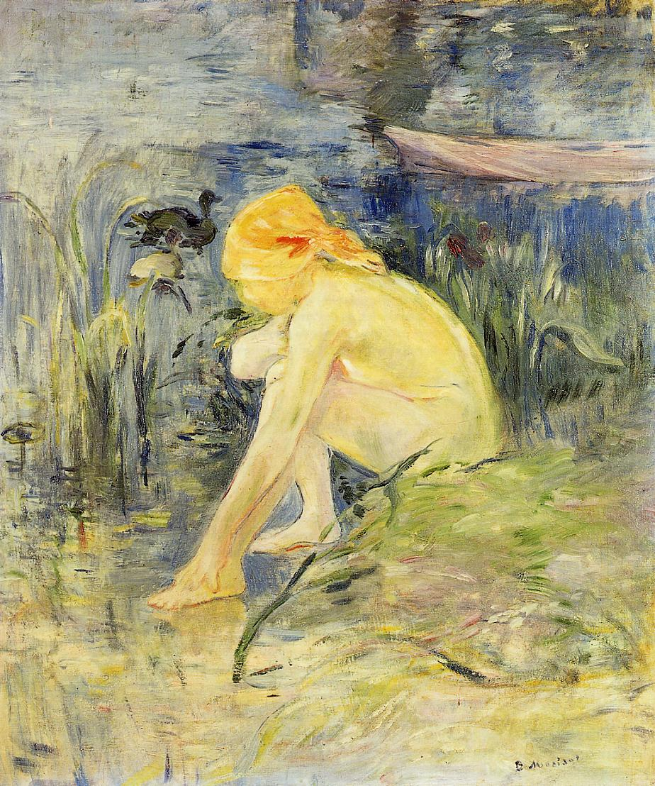 Bather 1891 | Berthe Morisot | Oil Painting