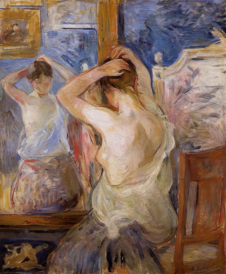 Before the Mirror 1890 | Berthe Morisot | Oil Painting