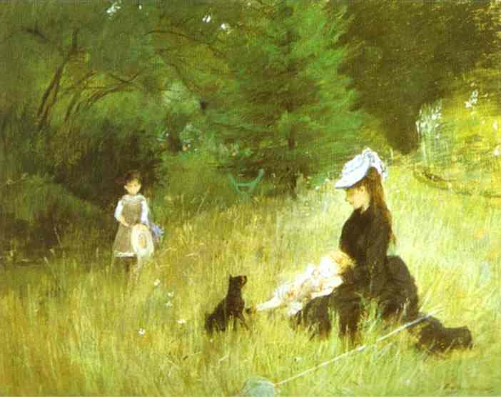 In The Grass 1874 | Berthe Morisot | Oil Painting