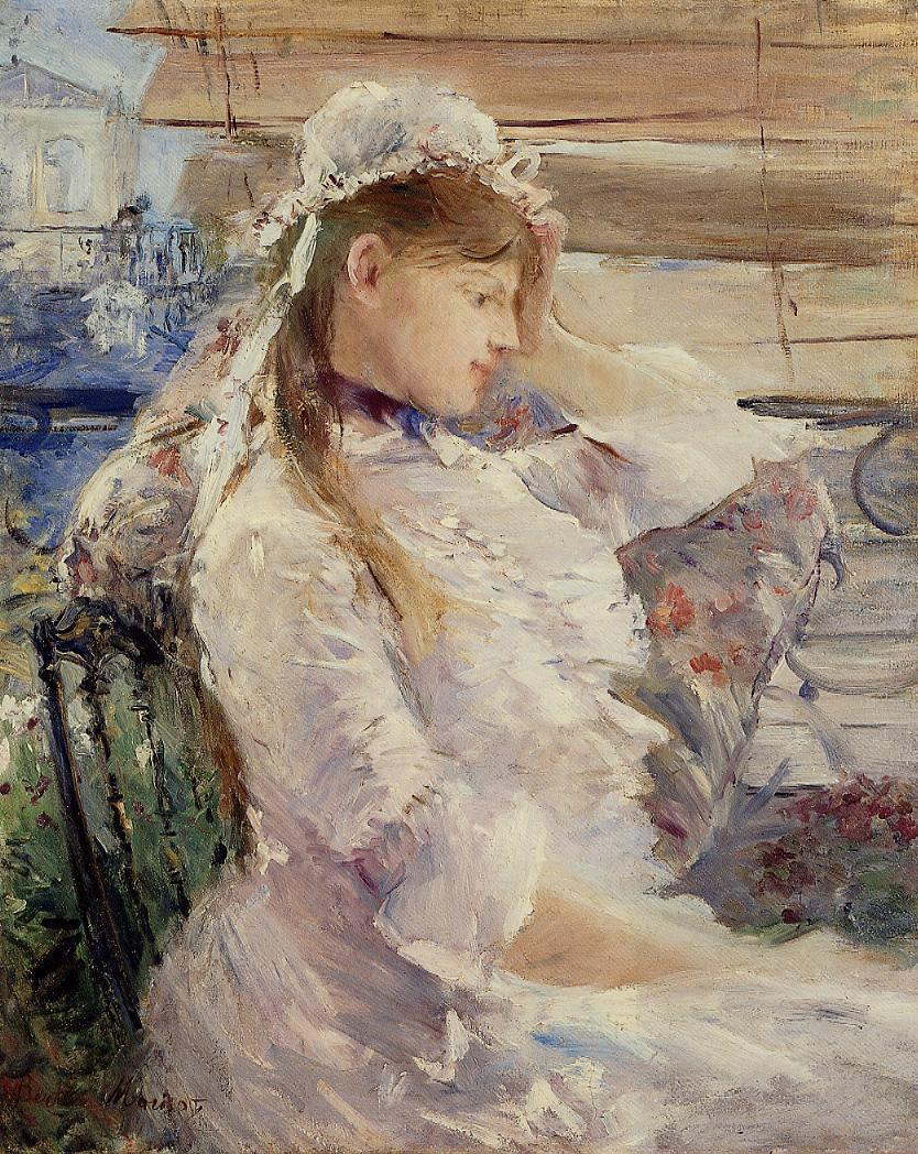 Behind the Blinds 1879 | Berthe Morisot | Oil Painting