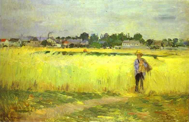 In The Wheatfields At Gennevilliers 1875 | Berthe Morisot | Oil Painting