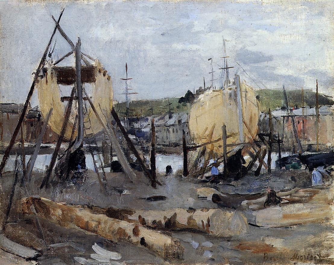 Boats under Construction 1874 | Berthe Morisot | Oil Painting