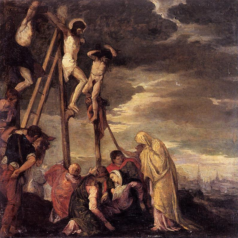 Calvary (after Veronese) 1858 | Berthe Morisot | Oil Painting